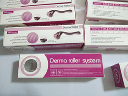 Skin cellS online shopping - 20pcs DRS micro needles derma roller micro needle dermaroller skin beauty roller stainless steel needle roller Chinapost free
