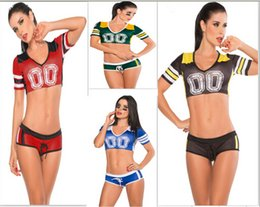 Bébé De Football Sexy Pas Cher-Gros-Livraison gratuite Costume Fantasy Football bébé de soccer fille football jupe courte sexy boy équipe short cheerleaders fixe costume de sport