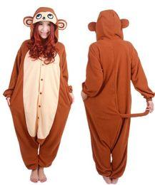 SS New Arrival Adult Unisex Monkey jumpsuit Animal Onesie Cosplay Pajamas  Sleepwear Pyjamas Costume ea654e750