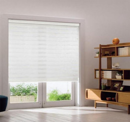 Custom Size Double Layer Roller Zebra Blinds Curtains For Room Window 30 Colors Are Available