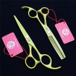"Barber Thinning Shears Australia - Z1023 6"" 17.5cm 440C Purple Dragon Laser Professional Human Hair Scissors Barbers' Hairdressing Scissors Cutting Thinning Shears Style Tool"