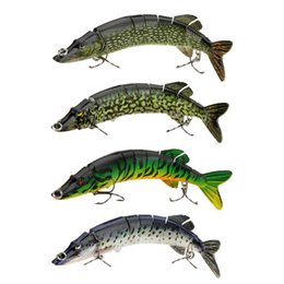 Swimbait Crankbait Hard Bait Canada - Fishing Lure Swimbait Crankbait 20cm 66g 8-segement Multi-jointed Pike Carp Pesca Hard Bait Fish Treble with Artificial Hooks