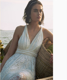 Beautiful Beach Pictures Canada - Empire Sexy Beach Wedding Dresses Online Cheap Beautiful Wedding Gowns Plus Size Full Lace Bridal Wear Vestidos de Novia