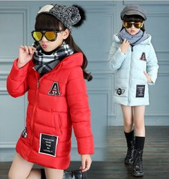 Girl Grey Jacket Coat Canada - Winter Kids Jackets & Coats Girls Graffiti Parkas Hooded Baby Girl Warm Outerwear Cartoon Animal Children's Jacket