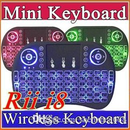 $enCountryForm.capitalKeyWord Canada - 20X Rii I8 Mini Keyboard Wireless Backlight RED Green Blue Light Air Mouse Remote With Touchpad Handheld For T95 M8S S905X S905 TV BOX A-FS