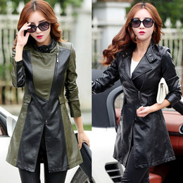 motorcycle jacket luxury Canada - Korean women leather jacket plus size 4xl coat Slim PU woman motorcycle jacket brand luxury designer female Manteaux d'hiver pour femmes