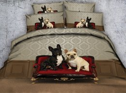 washable sofa Canada - New Fashion Design Sofa Bulldogs 3D Printed Fabric Cotton Bedding Sets Twin Full Queen King Size Dovet Covers Pillow Shams Comforter Animal