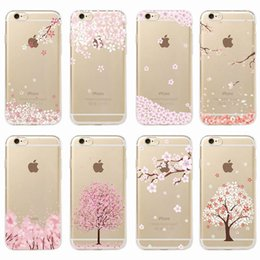 $enCountryForm.capitalKeyWord NZ - Cherries Peach Blossom Floral Cat Romantic Girl Pattern Soft Case For iPhone 6 6S 7 7Plus 8 8Plus X XS Max SAMSUNG