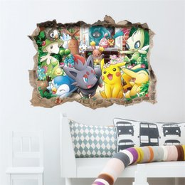 Wholesale Popolar Pikachu Decal Removable Wall Sticker Home Decor Art Kids Children Nursery Loving Home Decoration Gift For Children DHL B0456
