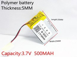 Battery Gps Polymer Australia - Hot selling 3.7V 500mAh 502535 Lithium Polymer Li-Po li ion Rechargeable Battery cells For Mp3 MP4 MP5 GPS PSP mobile bluetooth