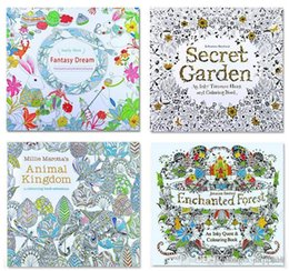 PrettyBaby Secret Garden Coloring Book Painting Drawing 24 Pages Animal Kingdom Enchanted Forest Relieve Stress For Children Adult B305