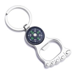 gift compass keyring UK - 5 Styles 2016 Unique Creative Compass Rudder bottle opener Key Chain, Glossy Alloy Keychain Keyrings Best Gifts