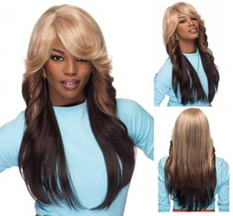 China women Long Body Wavy Ombre Hair wigs for Black Women Synthetic wigs African America Fashion pelucas Wig Cup suppliers
