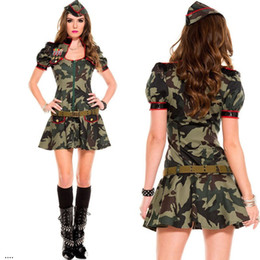 Female Soldier Camouflage USA Police Officer Uniform Jumpsuits Sexy Halloween Costumes Women  sc 1 st  DHgate.com & Shop Police Woman Costume Halloween UK | Police Woman Costume ...