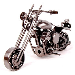 wrought iron models 2019 - New arrival wrought iron Motorcycle model, home furnishings, Decoration, creative birthday gift home decoration Gift Sou