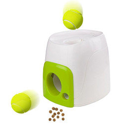 China Dog Toy Reward Machine Trainning Tennis Baseball Interactive Fetch Ball Pet Funny Small Animals Toys Cat Training Tool cheap toys tools suppliers