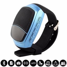 Free Sound For Mobile UK - B90 Mini Bluetooth Speaker Smart Watch Speaker Wireless Subwoofers Speaker With Screen Support TF FM USB VS DZ09 U8 BT808 free shipping R-YX