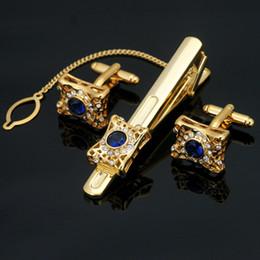 Новый мужской свадебный подарок золотой цвет запонки и галстук клип наборы необычные запонки Лавалье набор для мужчин ювелирные изделия Z-205