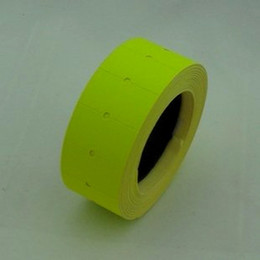 Roll labels pRices online shopping - Retail Yellow Rolls Price Tag Paper Price Label Refill Adhesive for MX Price Tag Gun Lableller