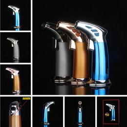 Butane spray online shopping - XXXL Torch Gas Butane Windproof Metal Jet Lighter Cigar BBQ Spray Lighter Flame Cigarette Lighter for smoking pipe Grinder Kitchen Tools
