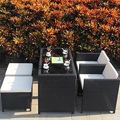 Bar Restaurant Balcony Table And Chairs Pe Rattan Wicker Sofa Set Wicker Garden Patio Outdoor Furniture Rattan Sofa Set Rattan Table Chair