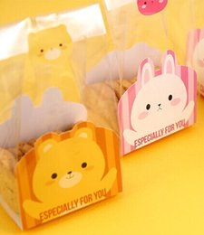cupcake plastic 2019 - 40Pcs  Lot Clear Plastic Bags And Cartoon Animal Paper Card Packaging Bags Pouches Wrappers Cupcake Free Shipping cheap