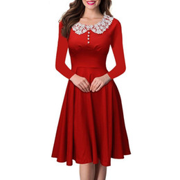 $enCountryForm.capitalKeyWord Canada - Nice Women Beading Dress For Formal Prom Evening Party Dresses Lace Vintage Retro 3844s Casual Swing Dress For Ladies