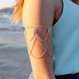 $enCountryForm.capitalKeyWord NZ - women Bracelet Armband Braccialetto Fringed Leaves Arm Harness Slave Chain Cuff Armband Armlet Bracelet