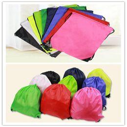 $enCountryForm.capitalKeyWord Canada - New Hot Drawstring Non-woven fabric Tote bags waterproof Backpack folding bags Marketing Promotion drawstring shoulder bag Storage Bags 2875