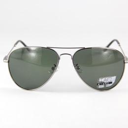 Deep Frames Canada - New Brand Polarized Sunglasses Men Alloyed Grey Frame Eyewear Eyeglasses Sun Glasses Deep Green Lenses Oval Fashion Design UV Driving2882