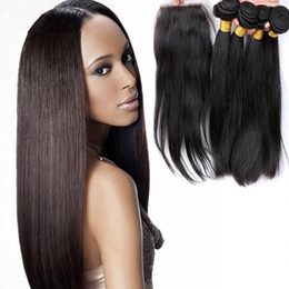 $enCountryForm.capitalKeyWord Canada - Peruvian Hair 5Pcs Lot(4x4) Middle Free 3 Way Part Lace Closure With Unprocessed Human Hair Extensions Silk Straight Hair Bundles