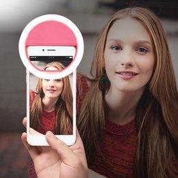 Portable Universal Selfie anillo de luz LED Flash Make Up Selfie cámara de teléfono de la fotografía de teléfono para el iPhone 6 6S 7 8 Samsung S8 Edge Xiaomi