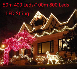 Discount outdoor christmas lights plug 2018 outdoor christmas 2018 outdoor christmas lights plug wholesale 50m 400 led 100m 600 leds 800 leds led mozeypictures Gallery