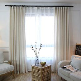 Sheer Linen Window Curtains Air Permeable Curtain Living Room Bedroom French Valance Wholesale Per Meters