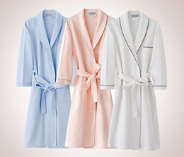 Waffle Robes Canada - Wholesale-New 2016 men and women waffle cotton  bathrobes men bathroom b969e5d82
