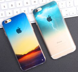 $enCountryForm.capitalKeyWord Australia - Half Clear TPU Scenery Case for iphone 5s 6 6s Plus Lightning Starry Sky Fashion City Ocean View Back Ultra-Thin Skin Phone Cover
