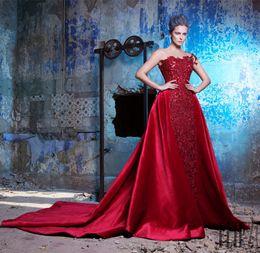 1d1c0595d4 Evening Dress Detachable Overskirt Canada - 2017 Krikor Jabotian Lace Prom  Dresses With Detachable Skirt Sheer