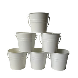 $enCountryForm.capitalKeyWord UK - D10.5xH9.5CM Small Rustic Metal pail garden bucket tin box Iron pots White wedding buckets