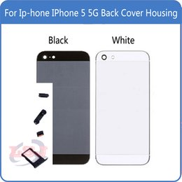 Housing 5g NZ - Replacement For For IPhone 5 5G Back Cover Housing Battery Cover Door Cover Grey Gold and Silver