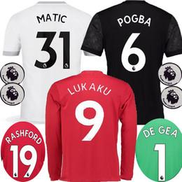 1c4512639c7 ... 2017 2018 LUKAKU Man Utd MATIC Red Soccer Jerseys 17 18 United Away  Black POGBA MARTIAL 17 18 MAN UTD long sleeve goalkeeper ...