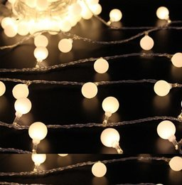 christmas ball garland NZ - 2M 20 LED ball Battery Operated LED String Lights for Xmas Garland Party Wedding Decoration Christmas Flasher Fairy Lights