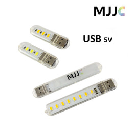 Usb Cooler Switch Canada - Mini Portable 3pcs 8pcs Leds SMD5730 USB Night Light Book light USB Lamp Color Temperature Cool white and Warm White for Laptop Notebook