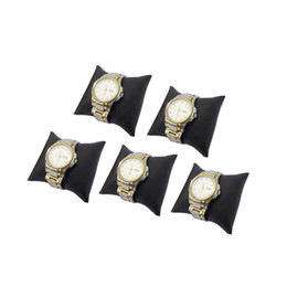 pc jewellery UK - Free Shipping 5 pcs Black PU jewellery Bracelet display cushion pillow jewellery box pillow watch cushion