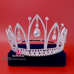Pretty Hair For Australia - Fashion Rhinestone Crown Tiara for Bridal Princess Miss Beauty Pageant Queen crown Wedding Hair Accessories Party Prom pretty Show Mo009
