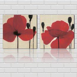 Canvas Print Pieces Australia - Free shipping unframed 2 Pieces picture Canvas Prints Abstract antique imitation hand painted painting flower statue of David orchid Lotus