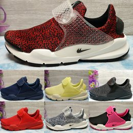Barato Alta Qualidade Barato Meias-Drop Shipping Wholesale Running Shoes Homens Mulheres Fragment Sock Dart Sneakers 2017 Hot Sale Alta qualidade Cheap Sports Shoes Size 5.5-10
