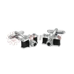 Chinese  Yoursfs Camera Cufflinks Black For Men 3D Enamel Wedding Fashion Perfect Decoration manufacturers