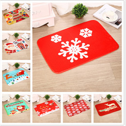 discount modern christmas stockings 4060cm christmas floor mat tree santa claus printed non - Modern Christmas Stockings