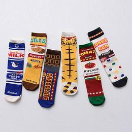 Free design socks online shopping - NEW Original Design Novelty Funny Cartoon Female Socks Print Milk Tomato Food Striped Women Cotton Socks