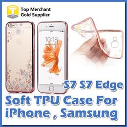 Più nuova cassa del telefono mobile di lusso per Apple iPhone 7 Plus bordo S7 S6 bordo placcatura Secret Garden Flower Butterfly Diamond TPU Cover